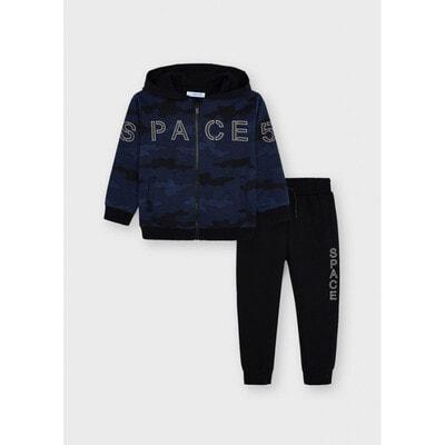 Комплект Спортивний, Кофта + чорні штани, Темно-синій, Mayoral Іспанія, 22OZ