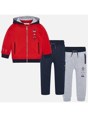 Костюм Спортивний, Кофта + штани 1-сині, 2-сірі, Червоний, Mayoral Іспанія, 20OZ