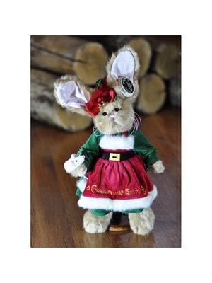 Іграшка М'яка, Зайчиха  в зелено-червоній сукні (36см), Me To You Великобританія