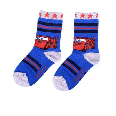 Шкарпетки, Cars, з сірою окантовкою, Синій, Disney Польща, 21OZ