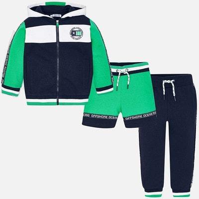 Комплект Спортивный, Кофта + штани + шорти  (зелені вставки), Темно-синій, Mayoral Іспанія, 19VL