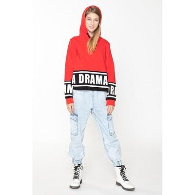 Пуловер с капюшоном (DRAMA), Красный, Reporter young Польша, 21OZ