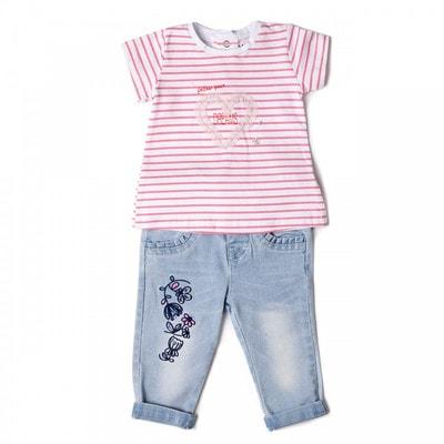 Комплект, Футболка біла  + джинси, Блакитний, Babybol Іспанія, 19VL