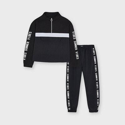 Комплект, Пуловер + штани, Чорний, Mayoral Іспанія, 21VL