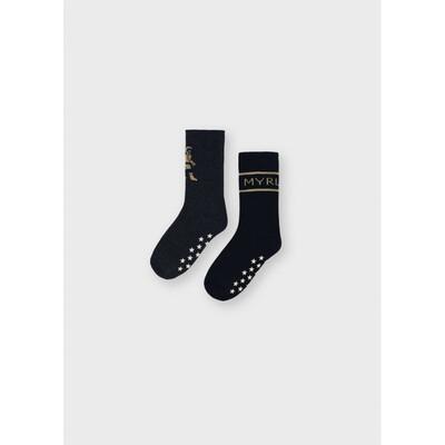 Шкарпетки, 2 пари (утеплені), Чорний, Mayoral Іспанія, 22OZ