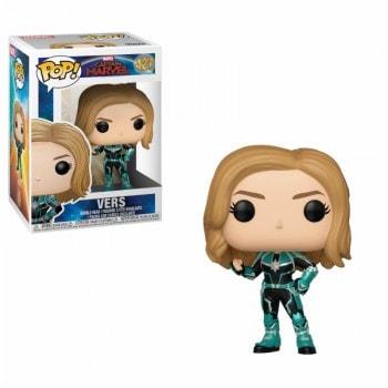 """ИГРУШКА Фигурка, Виниловая Funko POP! """"Capitan Marvel"""" Капитан Марвел в зеленом костюме, FUNKO США"""