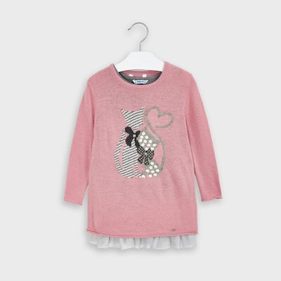 Сукня, + светр в'язаний, Рожевий, Mayoral Іспанія, 21OZ