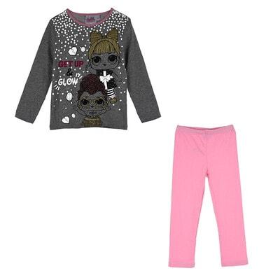 Піжама, серія Disney  L.O.L. SURPRISE! Джемпер + малинові штани  (світиться у темряві), Рожевий, Sun City Франція, 21OZ