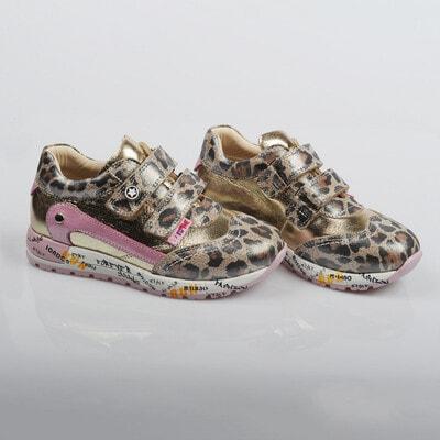 Кроссовки, леопардовые (золотистая с розовым вставка), Коричневый, Dr.Mymi Orthopedic Турция, 21OZ