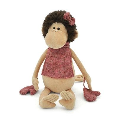 Іграшка М'яка, Мавпочка в манишці + рукавички 30см, ORANGE Китай
