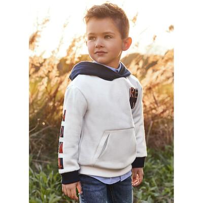 Пуловер, з капюшоном, утеплений, Білий, Mayoral Іспанія, 22OZ