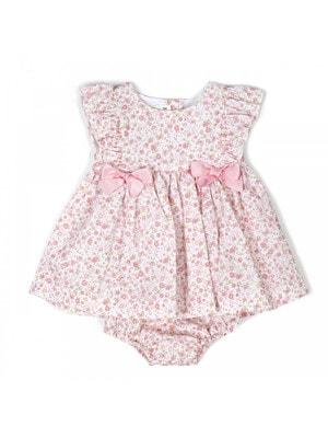 Комплект, Сукня + труси, в квітах, Рожевий, Babybol Іспанія, 19VL