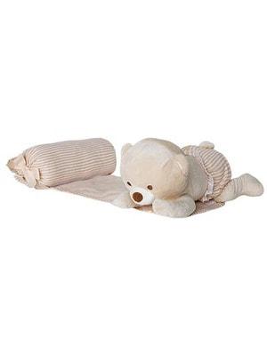 Аксесуари, Підтримуюча подушка з м'якою іграшкою, Бежевий, Mayoral Іспанія, 19OZ