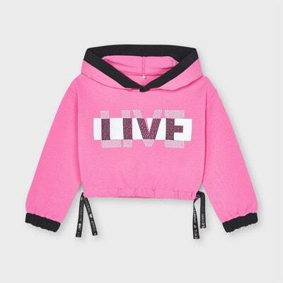 Пуловер, з капюшоном, Рожевий, Mayoral Іспанія, 21VL