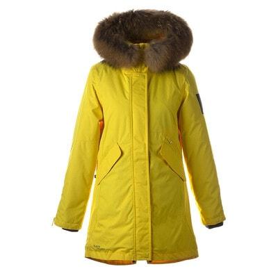 Пальто, з капюшоном (натуральне хутро)  VIVIAN 1, Жовтий, HUPPA Естонія, 21OZ