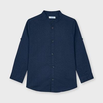 Сорочка, довгий рукав, Темно-синій, Mayoral Іспанія, 21VL