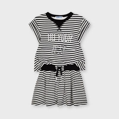 Сукня, в білу смугу, Чорний, Mayoral Іспанія, 21VL