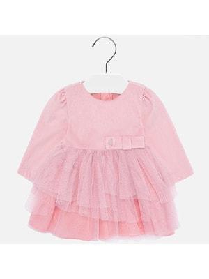 Сукня, довгий рукав (знизу фатин), Рожевий, Mayoral Іспанія, 20OZ