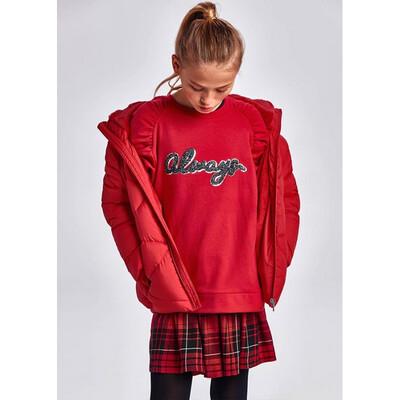 Сукня, низ в клітину + пуловер, Червоний, Mayoral Іспанія, 22OZ