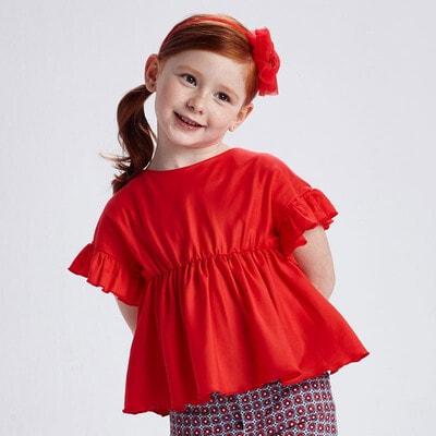 Блуза, Красный, Mayoral Испания, 21VL