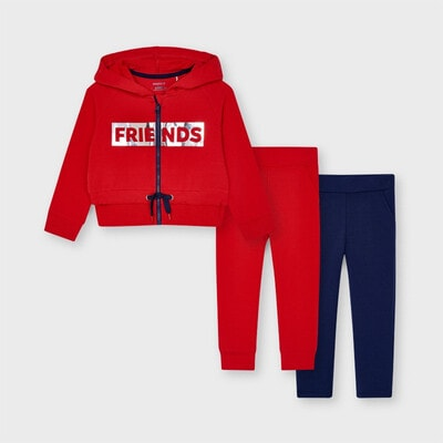 Комплект, Спортивний Кофта + штани 2 шт, Червоний, Mayoral Іспанія, 21VL