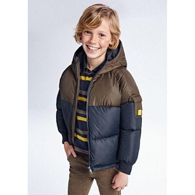 Куртка, з капюшоном, еврозима, Темно-синій, Mayoral Іспанія, 22OZ