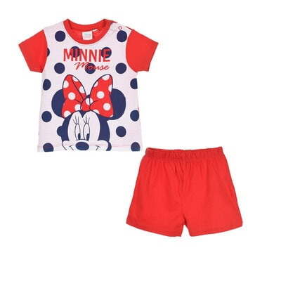 Пижама, Футболка + шорты MINNIE, Красный, Disney Испания, 20VL