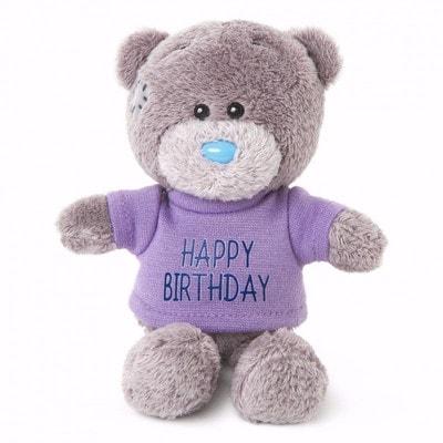Іграшка М'яка, Ведмедик Тедді в бузковій кофтині, 10 см, Me To You Великобританія