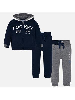Комплект Спортивный, Кофта + штани 2 шт. (1 сірі), Темно-синій, Mayoral Іспанія, 20OZ
