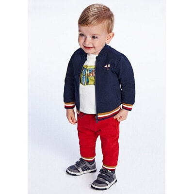Комплект Спортивний, Кофта + штани 2 шт. (1 - червоні), утеплений, Темно-синій, Mayoral Іспанія, 22OZ