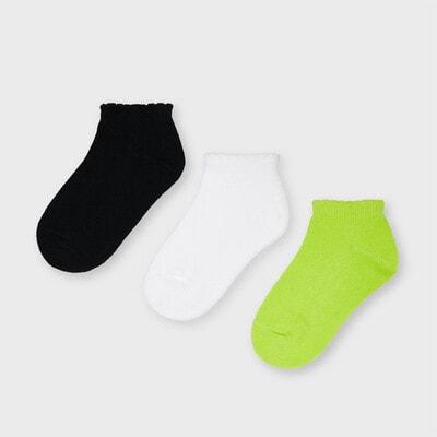 Шкарпетки, 3 пари Чорний, Білий,, Зелений, Mayoral Іспанія, 21VL