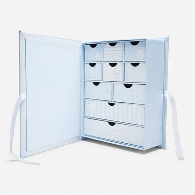 Аксессуары, Коробка для сувениров новорожденного (первый зуб, первое волос, первые носочки) и другие памятные вещи., Голубой, Mayoral Испания, 20OZ