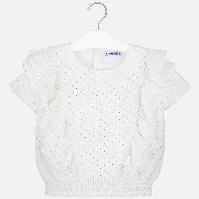 Блуза, в золотистий горошок, Кремовий, Mayoral Іспанія, 20VL