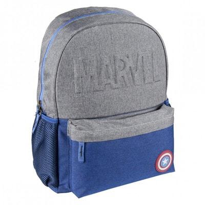 Рюкзак AVENGERS синие вставки (45х33х10) Cerda, Темно-серый, Disney Испания, 21OZ