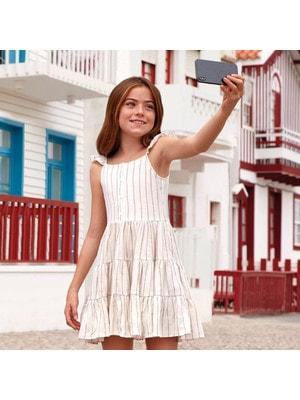 Сукня, в смужечку, Бежевий, Mayoral Іспанія, 19VL