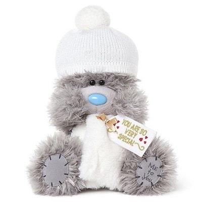 Іграшка М'яка, Ведмедик Тедді в білій шапці та шарфі, 23 см, Me To You Великобританія