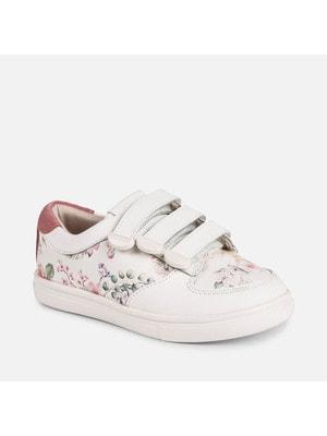 Кросівки, в квітах, Білий, Mayoral Іспанія, 19VL