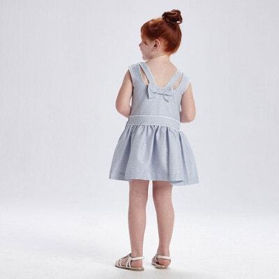 Сукня, в синю смугу з люрексом, Білий, Mayoral Іспанія, 21VL