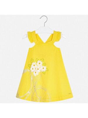 Сукня, (білі квіти), Жовтий, Mayoral Іспанія, 20VL