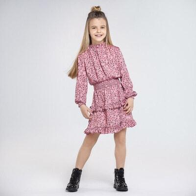 Сукня, довгий рукав, Рожевий, Mayoral Іспанія, 21OZ