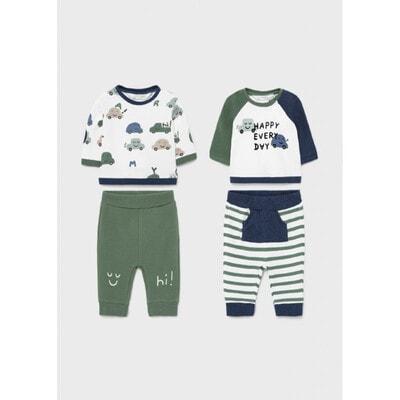Комплект, 4 од. Пуловер + штани, Зелений, Mayoral Іспанія, 22OZ