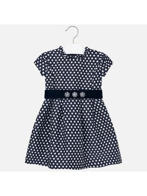 Сукня, в білий горошок, короткий рукав, Темно-синій, Mayoral Іспанія, 20OZ
