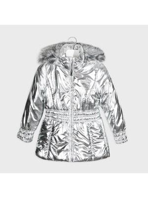 Куртка, з капюшоном, Сріблястий, Mayoral Іспанія, 21OZ