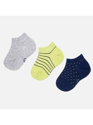 Шкарпетки, 3 пари, Жовтий, Mayoral Іспанія, 19VL