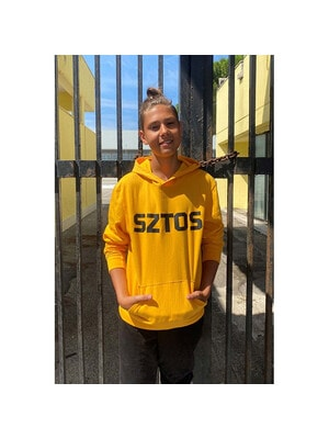 Пуловер с капюшоном, Желтый, Reporter young Польша, 21OZ