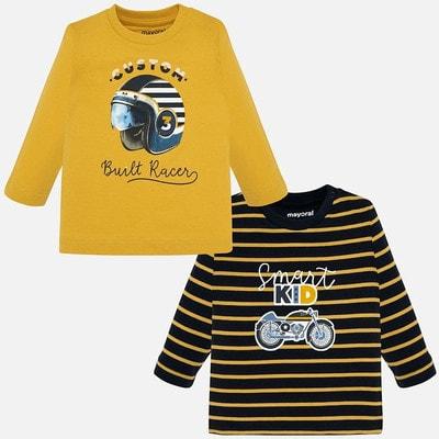 Комплект, Джемпер 1 Темно-синій в жовту смугу 2, Жовтий, Mayoral Іспанія, 20OZ