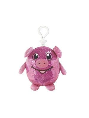 Игрушка Мягкая Забавная Свинка с пайетками (9 см)