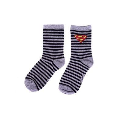Шкарпетки, SuperMan в чорну смугу, Сірий, Disney Польща, 21OZ