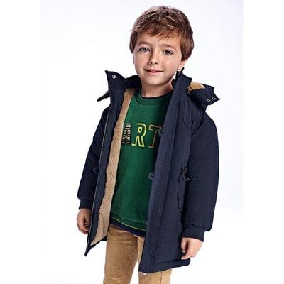 Куртка, Утепллена з капюшоном, Темно-синій, Mayoral Іспанія, 22OZ