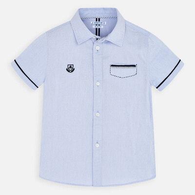 Сорочка, короткий рукав, Блакитний, Mayoral Іспанія, 20VL